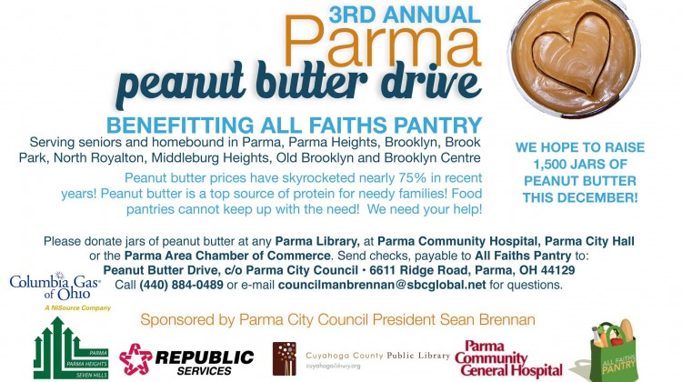 PRESS RELEASE – 2013 The Third Annual Parma Peanut Butter Drive
