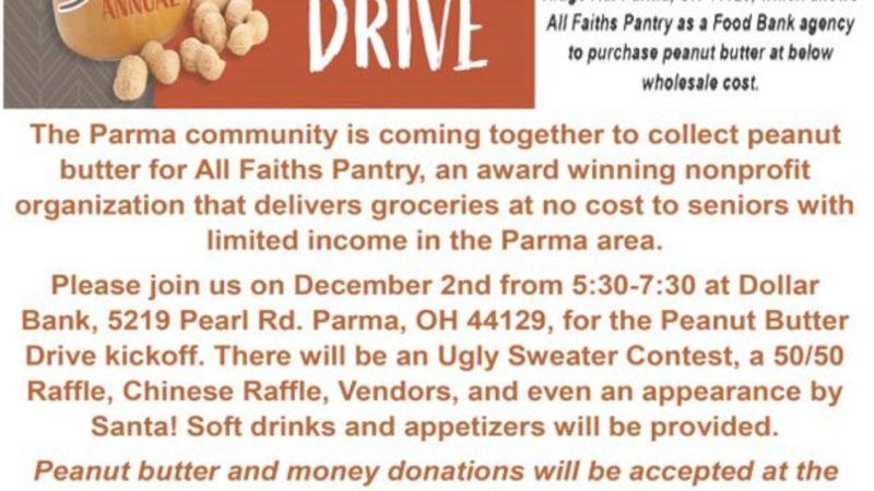 Parma Peanut Butter Drive Event